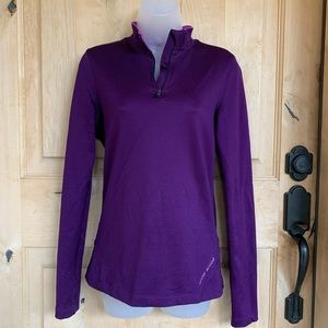Under Armour 3/4 Zipper Purple Pullover